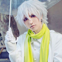 NewVogue DRAMAtical Murder DMMD-Clear straight cosplay men's hair full wigs    free shipping