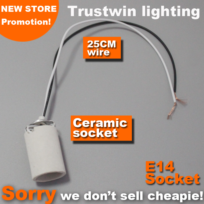 High quality spot light spotlight with electrical wire cable base socket E14 lamp bulb light holder(China (Mainland))