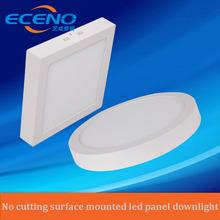 Rahmenlose Aufbau LED-Panel Licht 3 Watt/6 Watt/12 Watt/18 Watt Runde/Quadratische LED Deckenleuchten LED-Downlight AC85-265V SMD2835 CE RoHS(China (Mainland))