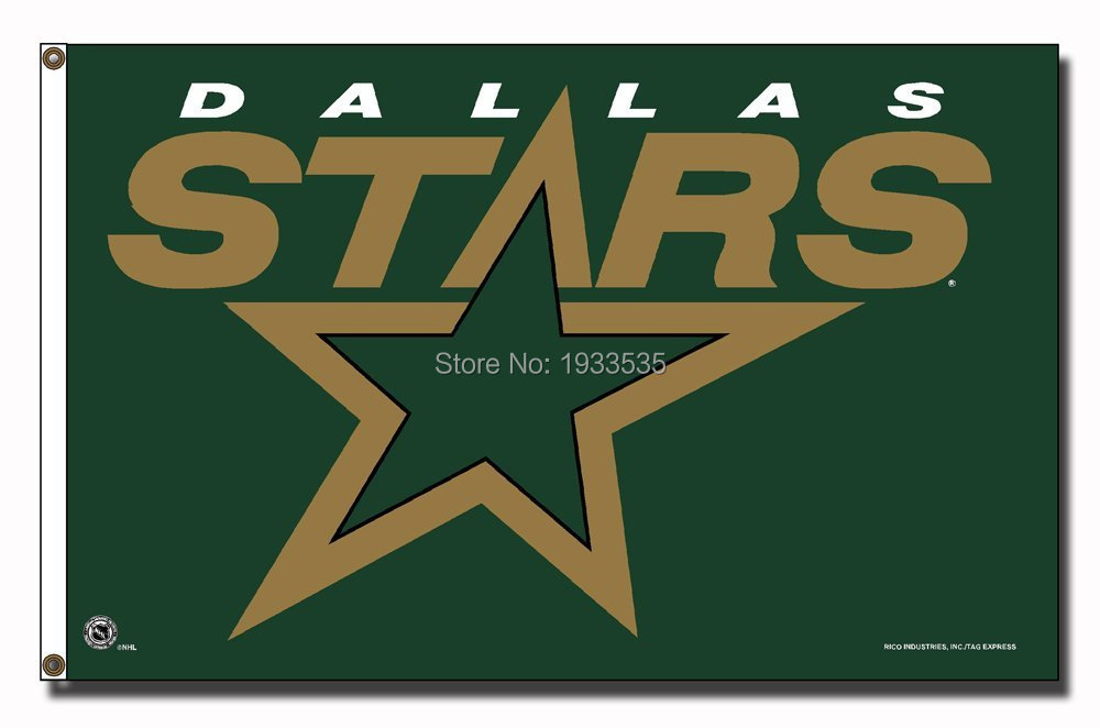 Dallas Stars Large Outdoor Banner Flag 3' x 5' Fan Flag Banner brass metal holes Flag(China (Mainland))