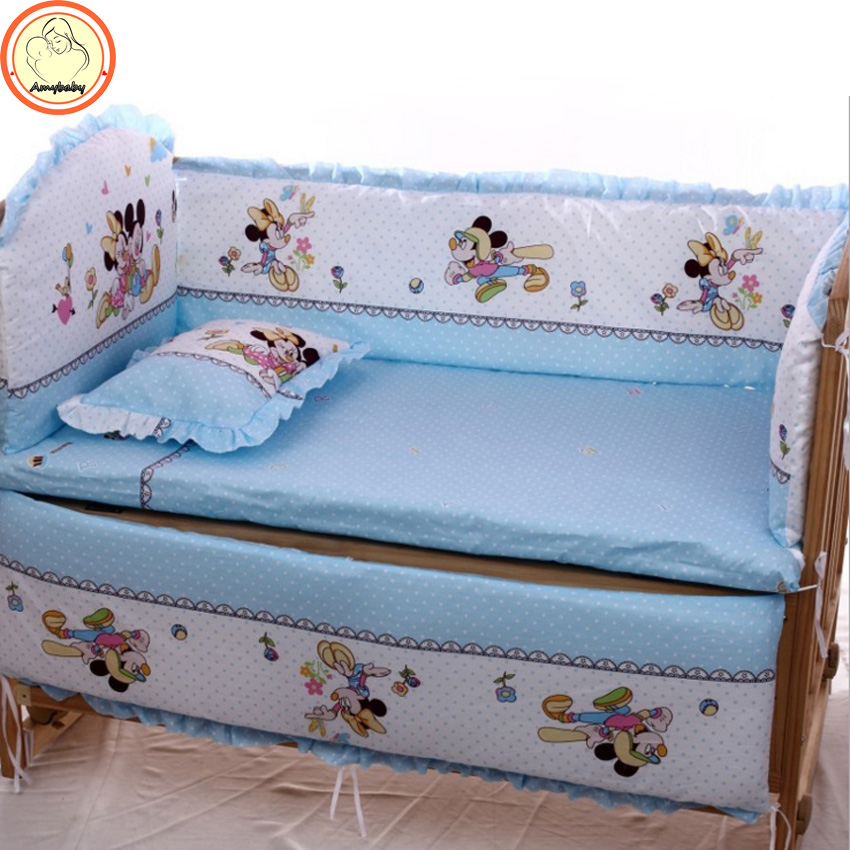 5Pcs baby crib bedding set kids bedding set 100x60cm 110x65cm newborn baby bed set crib bumper baby cot set baby bed bumper(China (Mainland))