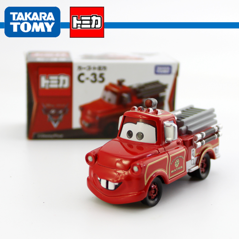 C-35 1/55 Scale Pixar Cars 2 Toys Fire-engine Version Tow Mater Fire Truck Diecast Metal Pixar Car Toy New In Box(China (Mainland))