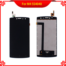 5PC/Lot 100% Tested LCD Display For M4 SS4040 S4040 4040 DJN 15-22251-44501 Touch Screen Black Color Mobile Phone LCDs