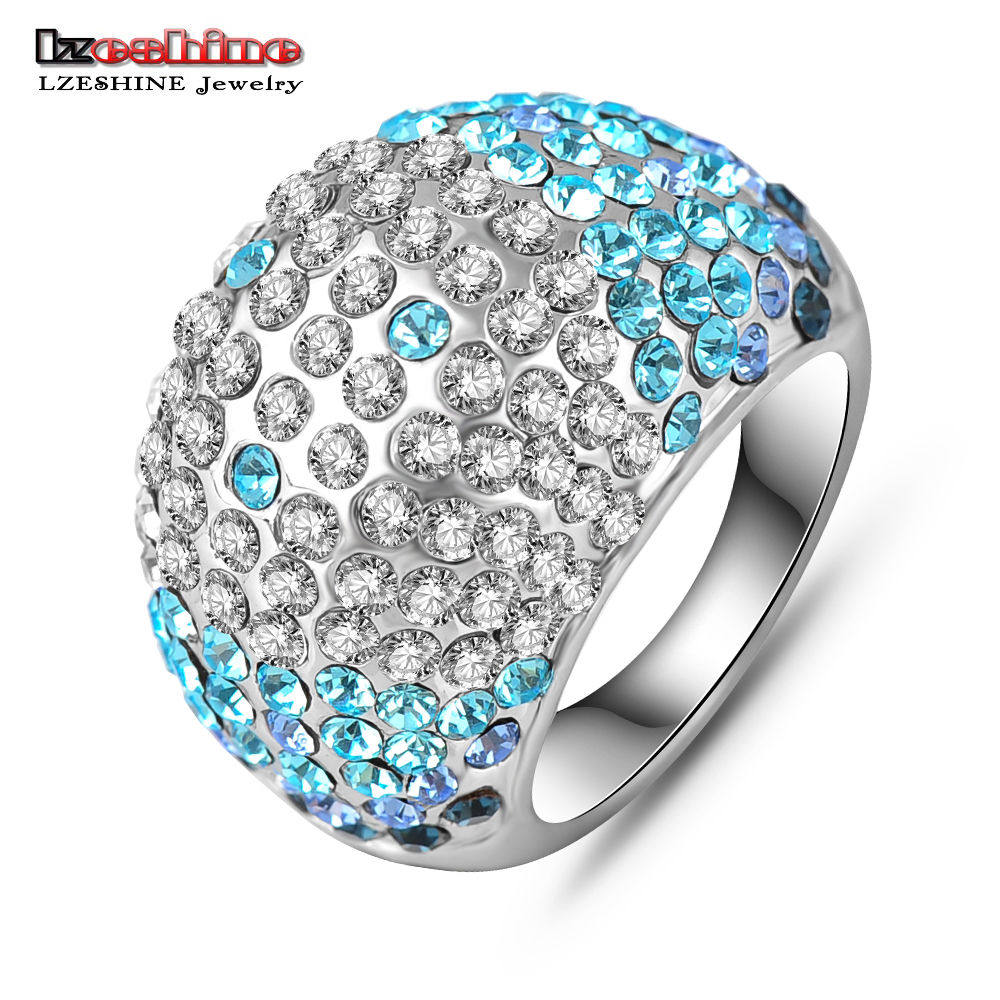 beautiful ring Picture - More Detailed Picture about LZESHINE Beautiful Rings Blue Clear ...