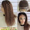 brazilian Deep Body Wave Front Lace Human Hair Wigs For Black Women,200% Heavy Hair Density