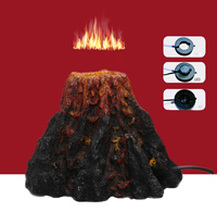 Fish tank aquarium ecoration oxygen decoration air stone led lighting volcano Environmental resin aquarium accessories