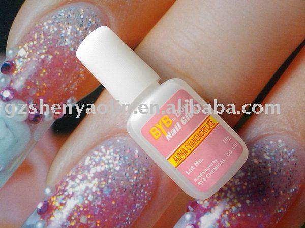 Free Shipping - 99pcs BYB 10g Nail Glue with brush for Nail Art Tips - NA104(China (Mainland))
