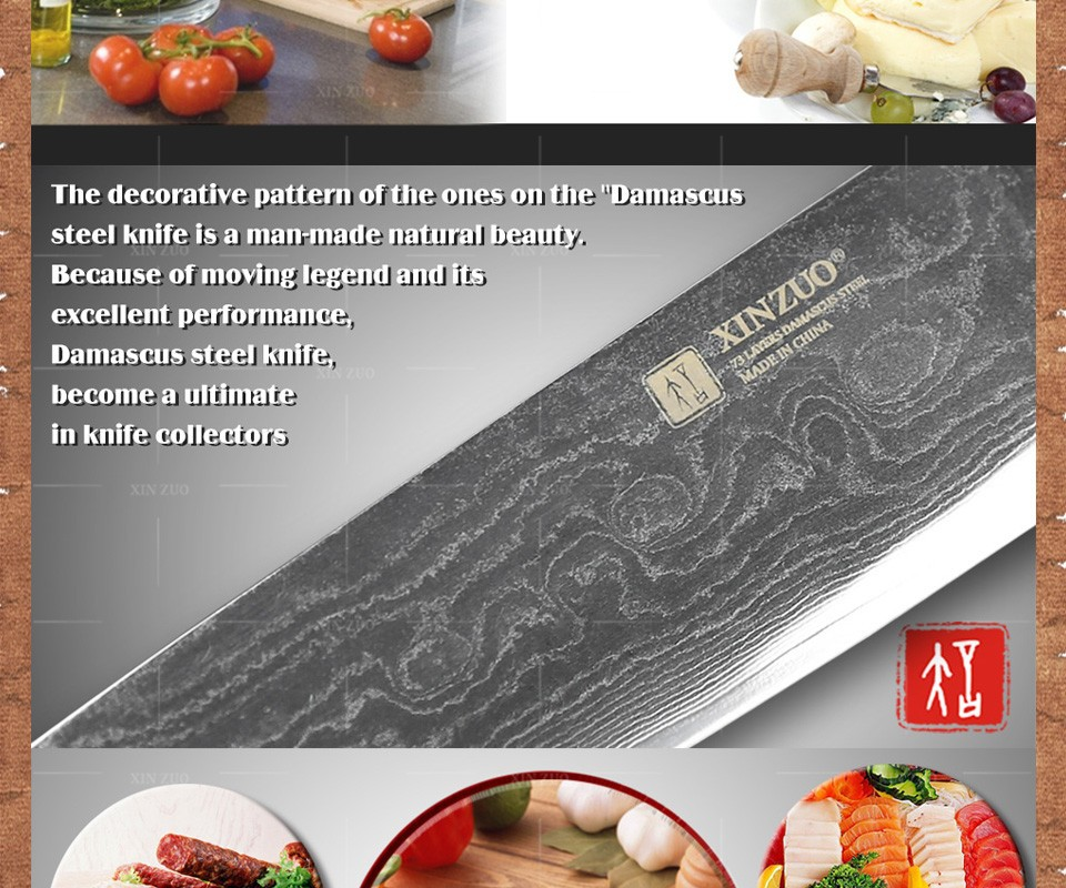 Buy 2 pcs kitchen knife set high quality VG10 chef utility knife 73 layers Japanese Damascus kitchen knife wood handle free shipping cheap