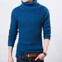 2015 New Winter Warm Turtle Neck Sweater Men Top Quality Knitting Warm Pullover Men High Collar Mens Sweaters Pull Homme(China (Mainland))