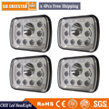 4x truck lens projector 12V led 7X6 car headlights 45w H L beam With DRL DOT