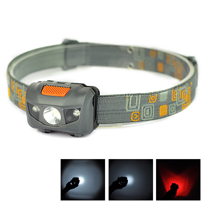 Hot!!R3+2LED Red light + White light 4 Mode High power 300 Lumen Flashlight Head Torch Headlight AAA Head Lamp Lantern Fishing(China (Mainland))