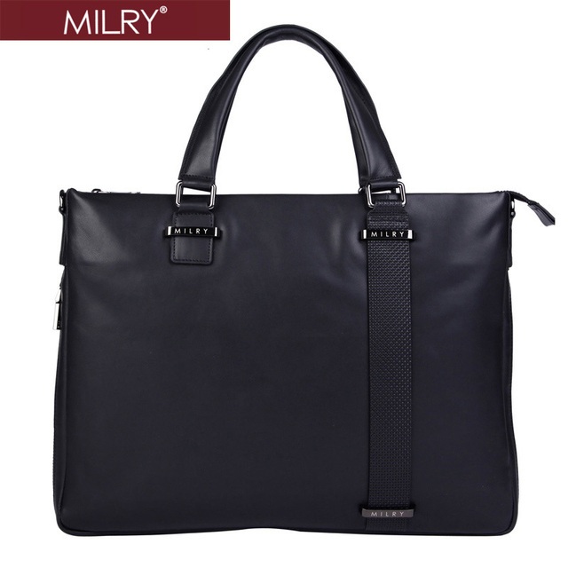 2014 new Brand MILRY 100% Genuine Leather Briefcase for men messenger bag real cowhide shoulder bag laptop bag  Cp0007-1