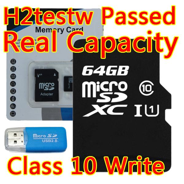 NEW Micro Sd Card 32gb 64gb Class 10 Flash Card Cartao De Memoria Sdxc Microsd 32GB Tf Card 64GB Memory Card Reader+Adapter(China (Mainland))