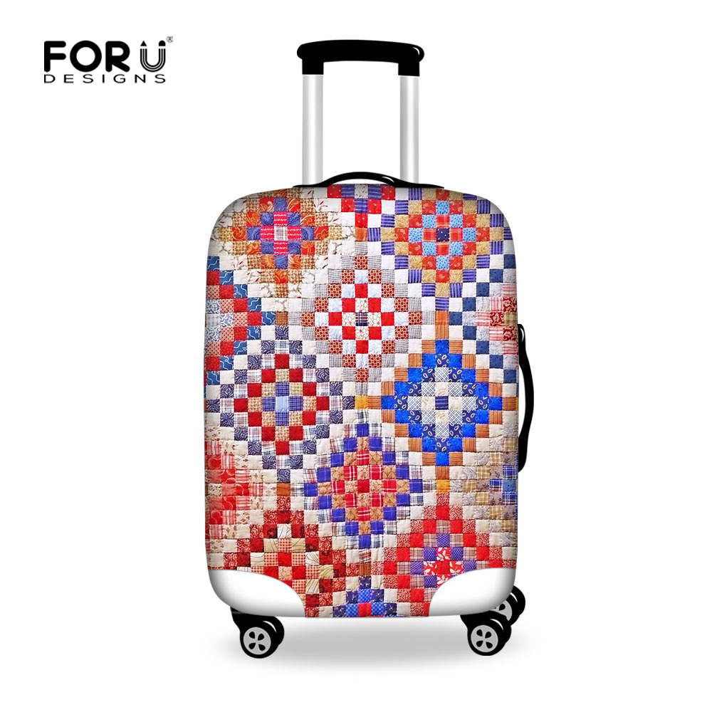 Original Design Travel Bag Cover Elastic Plaid Travel ...