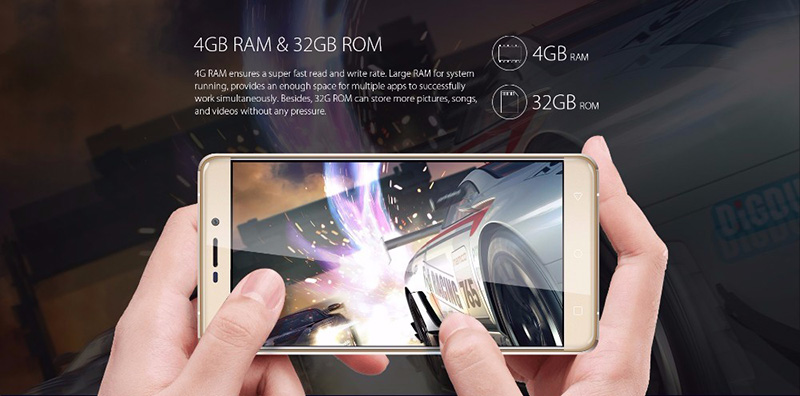 "Newest Blackview R7 5.5"" 4G LTE Mobile Phone Android 6.0 MTK6755 Octa Core 4GB+32GB Cellphone 3180mAh 13MP Touch ID Smartphone"