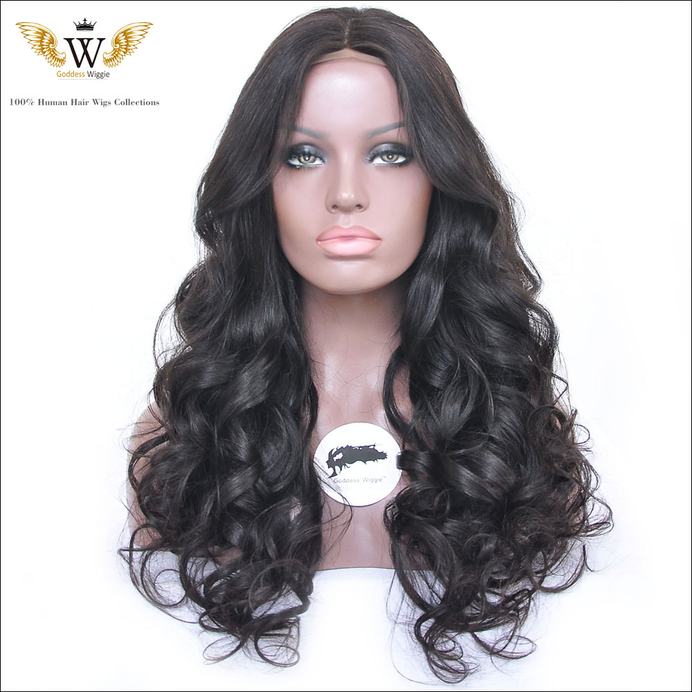 130 Density  Brazilian Human Hair Wavy Glueless Full Lace Wigs / Lace Front Human Hair Wigs With Baby Hair For Black Women