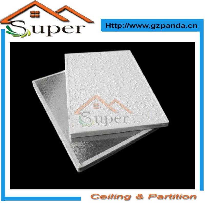 Barato pvc laminado de yeso azulejos de techo en paneles for Yeso laminado precio