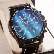 2015 nuevos hombres de marcado grandes de montañismo relojes calidad de cuero del cuarzo relojes relojes militares