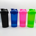 1PC Protein shaker blender mixer cup sports fitness gym 3 layers multifunction 500ml BPA free plastic