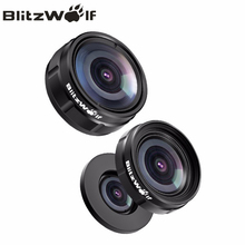 Buy BlitzWolf Mini Clip-on Optic Mobile Phone Camera Lens Kit 230 Degree Fisheye Lens + 0.63x Wide Angle + 15x Macro Lens Clip for $10.99 in AliExpress store