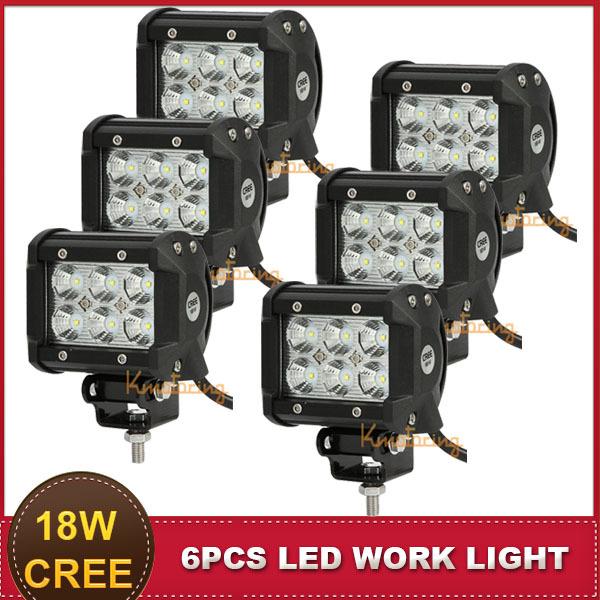 4 Inch CREE 18W LED Work Light Offroad Flood Beam 12V 24V Car Auto Headlight SUV ATV AWD 4X4 UTV Driving Fog Lamp Daytime DRL(China (Mainland))