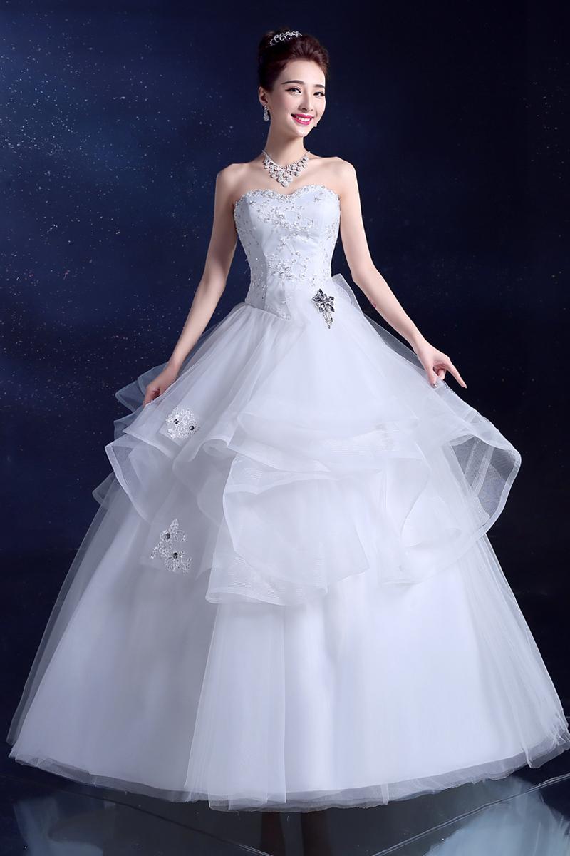 New Design Sheer Neckline Embelished With Crystal Tulleamp Lace Wedding Dress 2015 Bridal Dresses