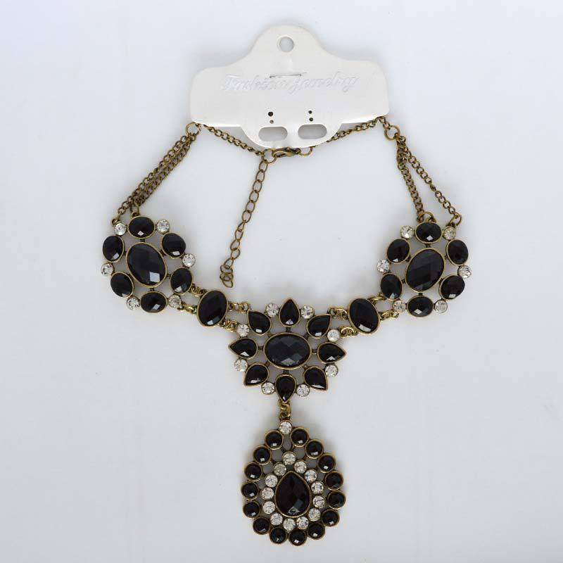 inventory processing fashion black acrylic big flower