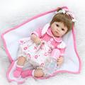 18 inch adorable girl doll reborn realistic newborn babies soft touch pink dress best children girls