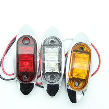 4 PCS LED  Side Marker Clearance Light Lamp  For Truck Trailer UTE Audew  Motorhomes Caravan Red Amber Car styling 12v 24 v(China (Mainland))