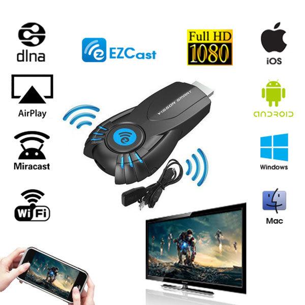 EZcast Smart Tv Stick EZ cast Android Mini PC Miracast Mirror cast Dongle wifi Ipush better than google chromecast chrome cast(China (Mainland))