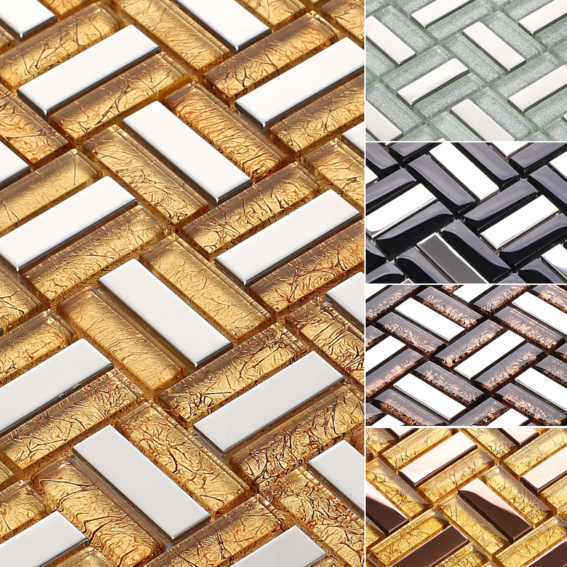 Гаджет  China Glass Mosaic Stainless Steel Puzzle TV Background Wall Tile Bathroom Toilet Flooring Tiles Mirrored Subway Tiles Building  None Строительство и Недвижимость