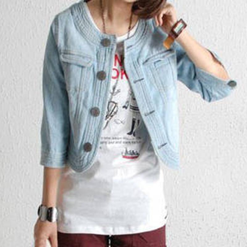 New 2015 Ladies Denim Jackets Outwear Jeans Coat Classical Jackets Women Fashion Jeans Coats Rivets Female JacketsОдежда и ак�е��уары<br><br><br>Aliexpress