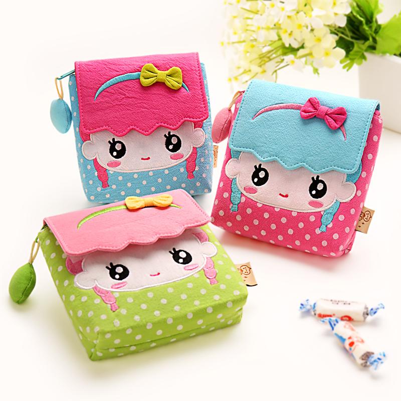 2015 New Top Quality Cute cartoon bags children handbags cute children's favorite gift 100% cotton cloth bag Hot Sale(China (Mainland))