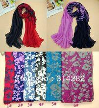 women printe plain floral Bohemia scarf/shawls design 100% viscose long popular muslim/hijab scarves 10pcs/lot(China (Mainland))