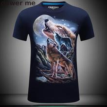 Buy mens t shirts fashion 3d t shirt men Hip Hop Men T-shirt O-Neck Casual tops tees Fitness printing Mountain Wolf funny t-shirt for $7.66 in AliExpress store