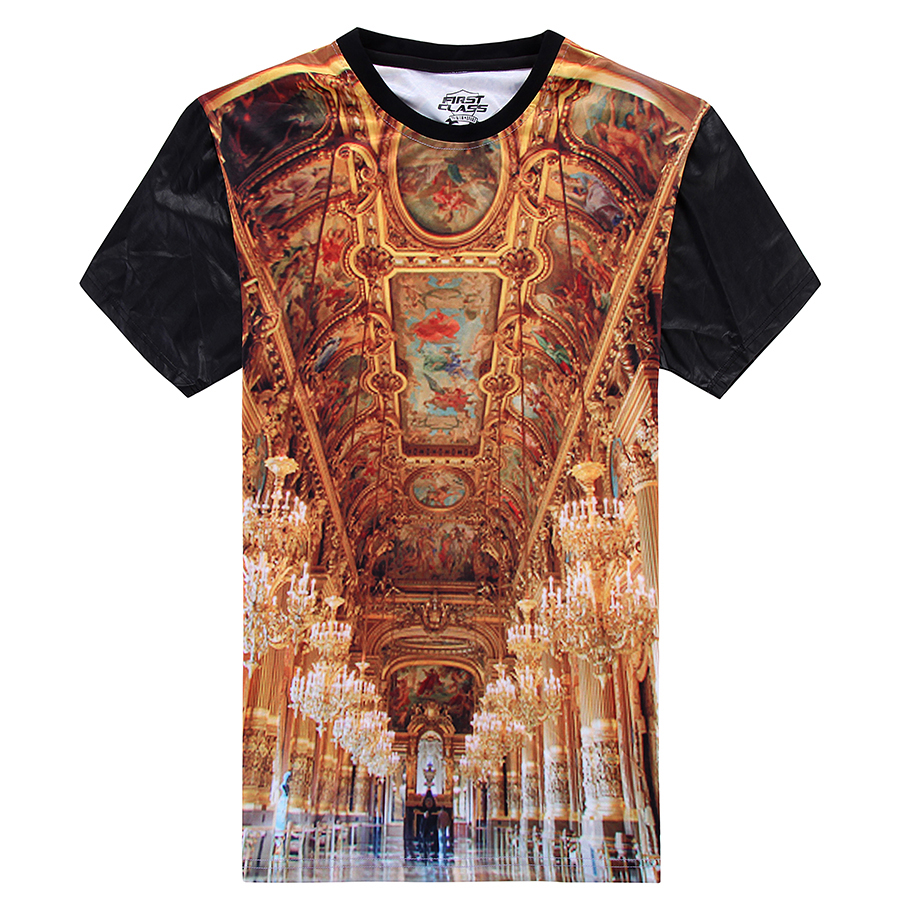 Luxury T Shirt Men Hip Hop T Shirt Palace Printed T Shirt