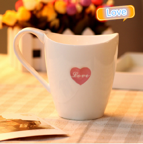 The Love Mug Coffee Cup Valentines Day Heart I Love You Ceramic Loving couple mug ceramic cup creative cup Milk Cup New(China (Mainland))