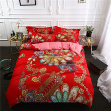 3Pcs/Set Animal forest Printed Duvet Cover Set 3D Bedding Sets Queen King Twin Size(China)