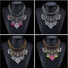 Big Brand Design Ethnic Vintage Necklaces & Pendants crystal  Jewelry Gold Chain Collar Choker Statement Necklace 2015 For Women(China (Mainland))
