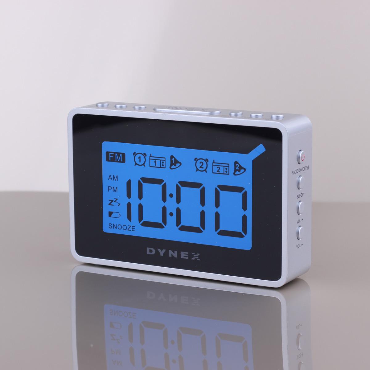 led digital alarm clock radio with snooze blue backlight. Black Bedroom Furniture Sets. Home Design Ideas
