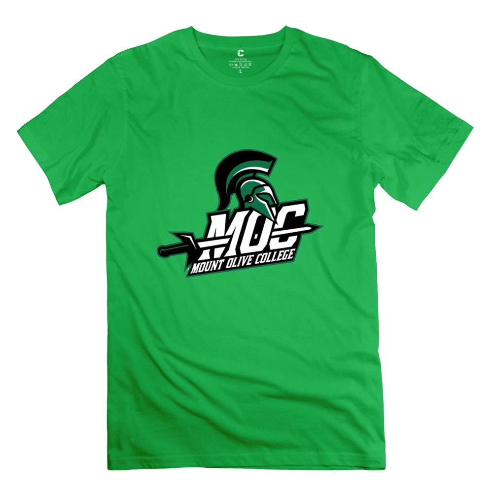 high quality Mount Olive logo t shirt hip pop o neck mens ...