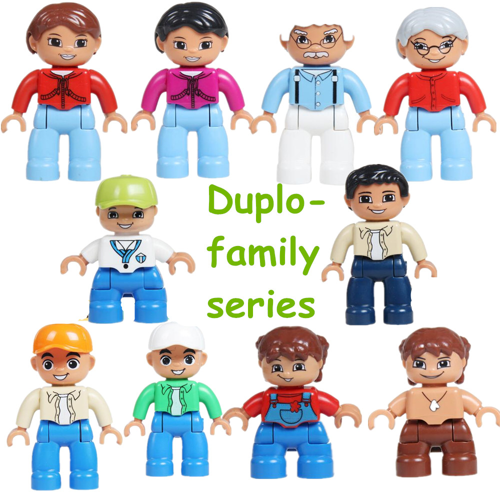 Toys For Siblings : Pcs lot duplo family series mother father sister action