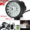 34000LM 14 XM L T6 LED 6 x 18650 Bicycle Cycling Light Waterproof Lamp Outdoor Bike