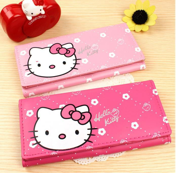 wholesale Han edition children cute cartoon hellokitty wallet female long Kitty wallet(China (Mainland))