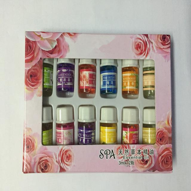 12 бутылки 3 МЛ SPA растений эфирные масла с ароматические масла ароматерапия бытовой ежедневно поставляет вылечить вкус Дома Воздуха помощи