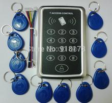 Proximité RFID porte de contrôle d'accès clavier système 125 KHz EM ID carte d'accès contrôleur + 10 pcs RFID tag(China (Mainland))