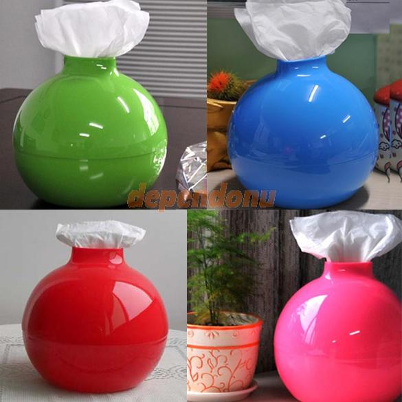 D1U# Simple Bomb Shape Tissue Box Cover Holder Room Toilet Paper Pumping Case Free Shipping(China (Mainland))