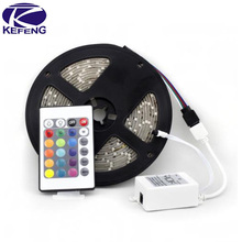 5M/roll 3528 RGB flexible led strip 60leds/M & 24key IR Romote Controller & Receiver free shipping by China Post free shipping(China (Mainland))