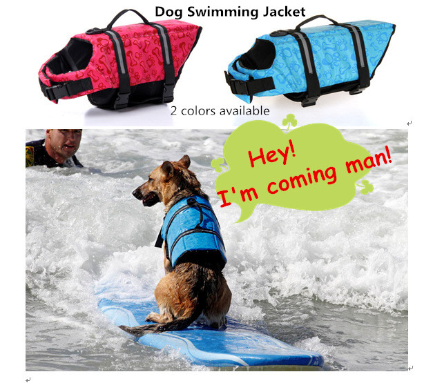 2016 Summer Pet Dog Swimming Jacket Safety Clothes for Dogs Life Vest Outward Saver Pet Dog Trainning Swimming Preserver(China (Mainland))