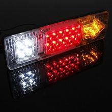 2pcs 24V Waterproof 19eds ATV Trailer Truck LED Tail Light Lamp Yacht Car-Trailer Taillight Reversing Running Brake Turn Lights(China (Mainland))